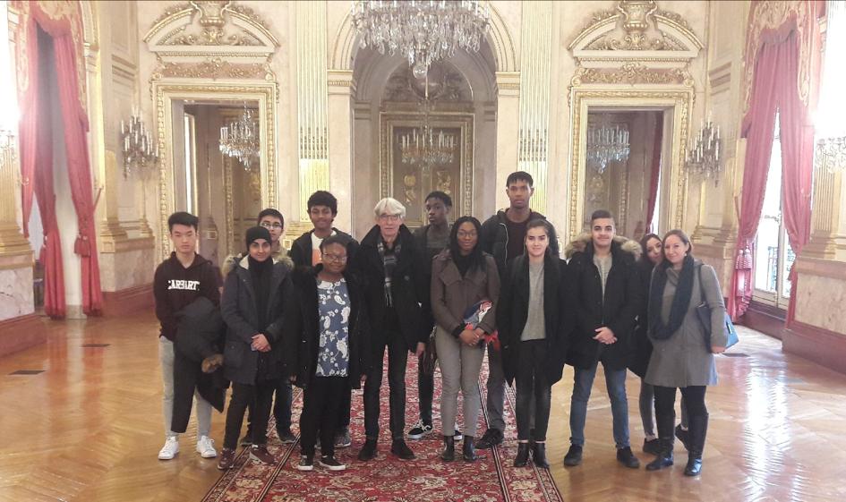 cohorte de 1ères et terminale du Lycée Jacques Brel de La Courneuve